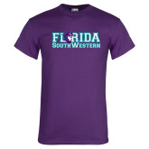 Purple T Shirt-Florida Stacked