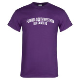 Purple T Shirt-Arched Florida SouthWestern Buccaneers