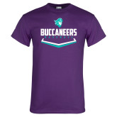 Purple T Shirt-Buccaneers Baseball Plate