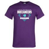 Purple T Shirt-Buccaneers Baseball Diamond