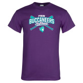 Purple T Shirt-FSW Buccaneers Softball Crossed Sticks