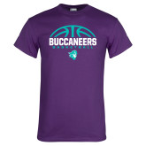 Purple T Shirt-Buccaneers Basketball Half Ball