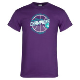 Purple T Shirt-Suncoast Mens Basketball Champions