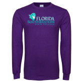 Purple Long Sleeve T Shirt-Primary Logo