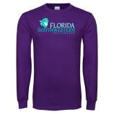 Purple Long Sleeve T Shirt-Florida SW Buccaneers