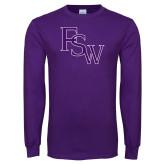 Purple Long Sleeve T Shirt-FSW