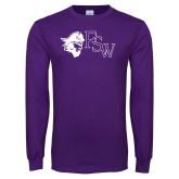 Purple Long Sleeve T Shirt-Pirate FSW
