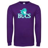 Purple Long Sleeve T Shirt-Bucs