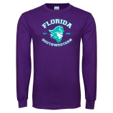 Purple Long Sleeve T Shirt-Florida SouthWestern with Pirate
