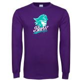 Purple Long Sleeve T Shirt-Bucs Pirate