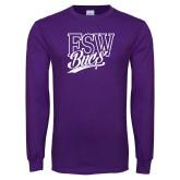 Purple Long Sleeve T Shirt-FSW Bucs