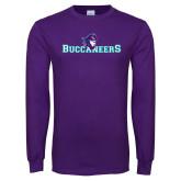 Purple Long Sleeve T Shirt-Buccaneers Pirate