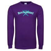 Purple Long Sleeve T Shirt-FSW Buccaneers Swords