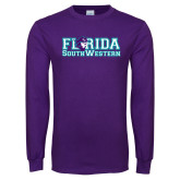 Purple Long Sleeve T Shirt-Florida Stacked