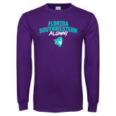 Purple Long Sleeve T Shirt-Florida SouthWestern Alumni Arched