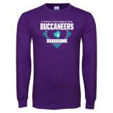 Purple Long Sleeve T Shirt-Buccaneers Baseball Diamond