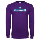 Purple Long Sleeve T Shirt-FSW Buccaneers Softball