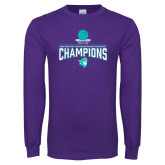 Purple Long Sleeve T Shirt-Suncoast Womens Basketball Champions