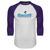 White/Purple Raglan Baseball T Shirt-FSW Buccaneers Baseball