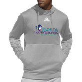 Adidas Grey Team Issue Hoodie-Primary Logo