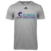 Adidas Climalite Sport Grey Ultimate Performance Tee-Florida SW Buccaneers