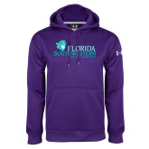 Under Armour Purple Performance Sweats Team Hoodie-Florida SW Buccaneers