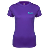 Ladies Syntrel Performance Purple Tee-Primary Logo