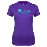 Ladies Syntrel Performance Purple Tee-Florida SW Buccaneers