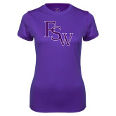 Ladies Syntrel Performance Purple Tee-FSW