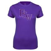 Ladies Syntrel Performance Purple Tee-FSW