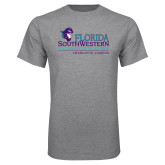 Grey T Shirt-Florida SouthWestern Collegiate High School Charlotte Campus with Pirate
