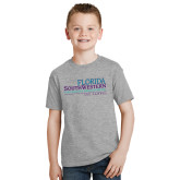 Youth Grey T Shirt-Florida SouthWestern Collegiate High School Lee Campus