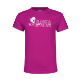 Youth Fuchsia T Shirt-Primary Logo