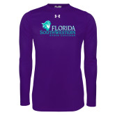 Under Armour Purple Long Sleeve Tech Tee-Primary Logo