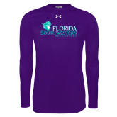 Under Armour Purple Long Sleeve Tech Tee-Florida SW Buccaneers