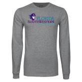 Grey Long Sleeve T Shirt-Florida SW Buccaneers