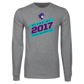 Grey Long Sleeve T Shirt-Class Of - Slanted Banners, Personalized Year