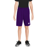 Youth Purple Competitor Shorts-Pirate
