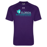 Under Armour Purple Tech Tee-Primary Logo