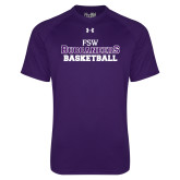 Under Armour Purple Tech Tee-Basketball