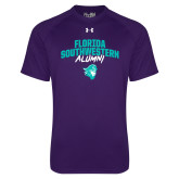 Under Armour Purple Tech Tee-Florida SouthWestern Alumni Arched