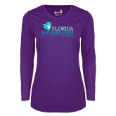 Ladies Syntrel Performance Purple Longsleeve Shirt-Primary Logo