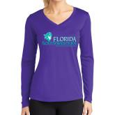 Ladies Syntrel Performance Purple Longsleeve Shirt-Florida SW Buccaneers
