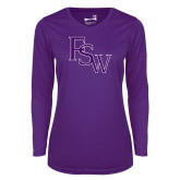 Ladies Syntrel Performance Purple Longsleeve Shirt-FSW