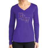 Ladies Syntrel Performance Purple Longsleeve Shirt-FSW