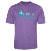 Performance Purple Heather Contender Tee-Primary Logo