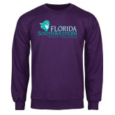 Purple Fleece Crew-Primary Logo