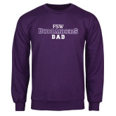 Purple Fleece Crew-Dad