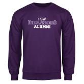Purple Fleece Crew-Alumni