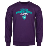 Purple Fleece Crew-Florida SouthWestern Alumni Arched